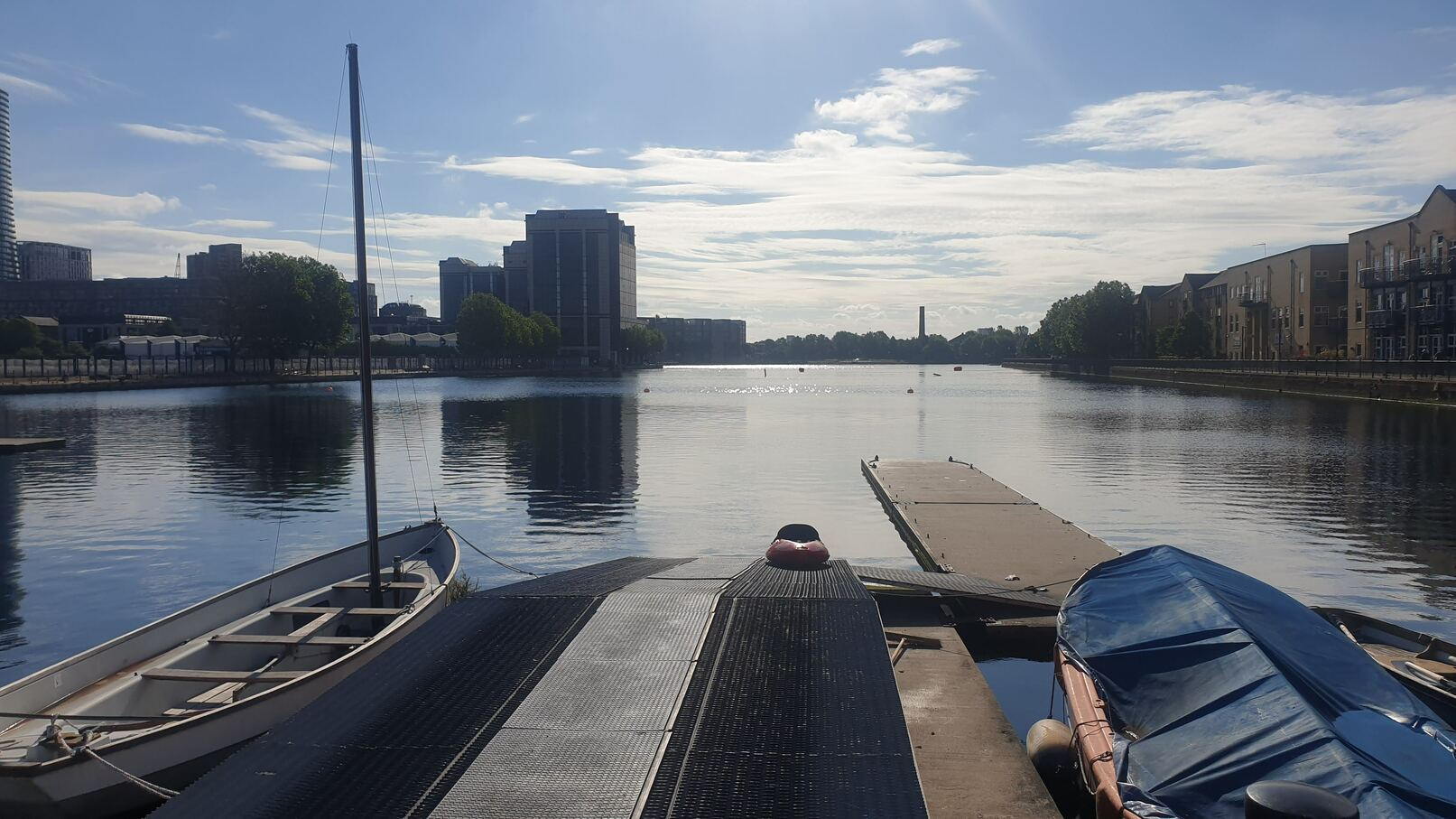 Milwall docks open water swim